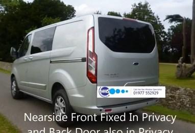 Ford Transit Custom Tailgate Window In Privacy