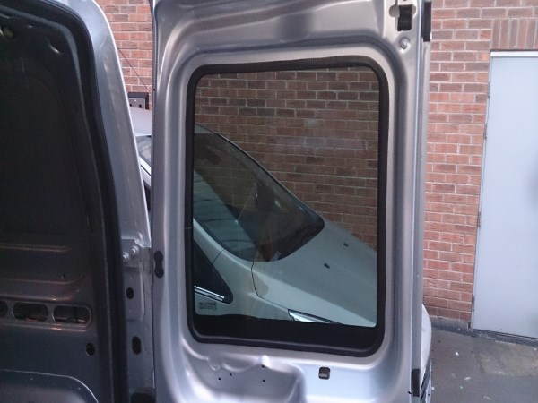 Ford Transit Connect O S Bonded Rear Door Window In