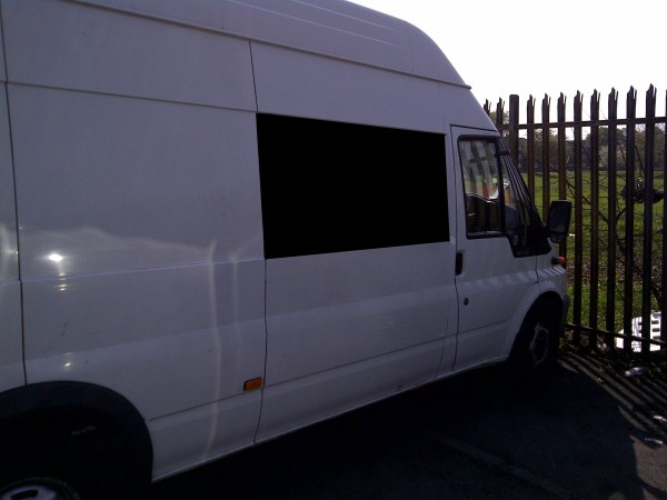 Ford Transit O S Front Fixed Bonded Side Window In Privacy