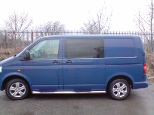 Vw T5 N S Front Fixed Bonded Side Window In Privacy