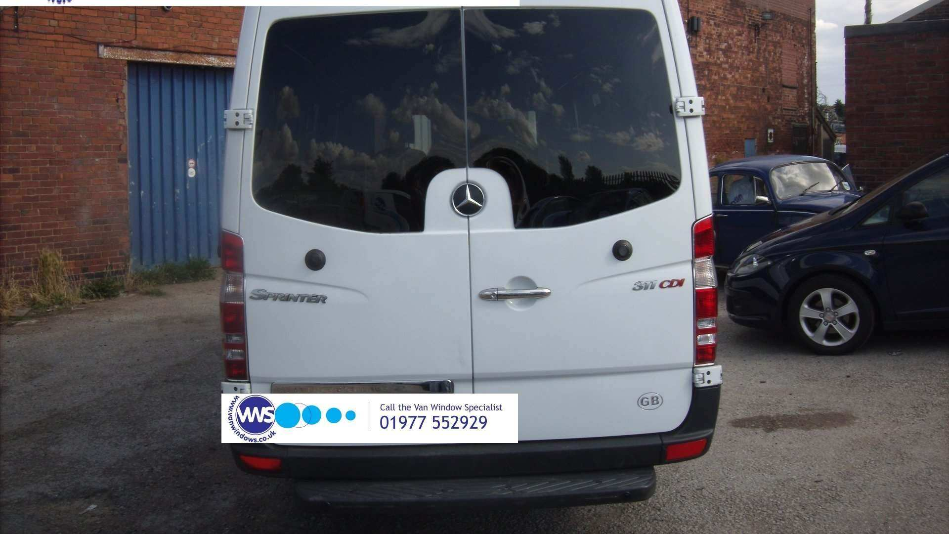 Mercedes Sprinter 2006 Onwards O S Rear Door Bonded Window